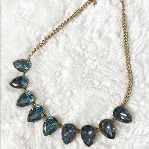J. Crew Tear drop blue necklace